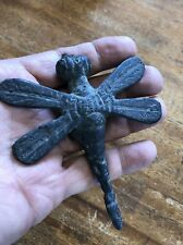 Dragonfly Insect Dragon Fly Statue Figure Solid Bronze Antique Patina