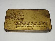 Blechdose Tabakdose Moquado Edelblatt Gold Shag