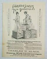 1887 Chicago Illinois Slacks Grocery Tea Powell Safety Deposit Advertisement