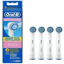 4 x Oral-B Sensitive Clean  Braun Toothbrush Heads EBS17-4