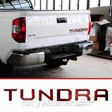 For TOYOTA TUNDRA 2014-2018 RED Tailgate Letters Insert 3D Plastic Sticker