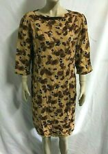 TRACY REESE Studio Lined 3/4 Sleeve A Line Print Dress  Size 14 ~ Made In U.S.A.