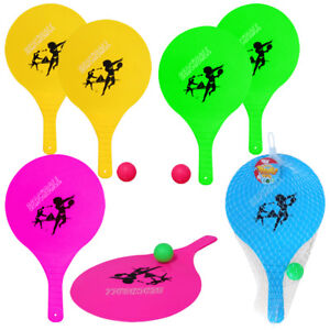 Beach Paddle and Ball Set Summer Tennis Two Bats One Ball