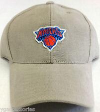 NBA New York Knicks Velcroback Curve Brim Cap Hat NEW!