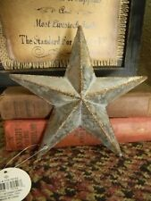 """Primitive Vintage Repro Shabby Country GALVANIZED Hanging Star Small 6"""" Size"""