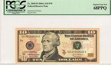 PCGS 68PPQ SUPERB GEM NEW $10 FR.2040-D 2004A FEDERAL RESERVE NOTE