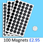 Self Adhesive Round Disc Magnets 12.5mm Pack of 100