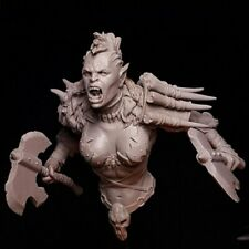 1/12 Resin Figure Model Kit Soldier Monster woman Warrior unpainted unassembled