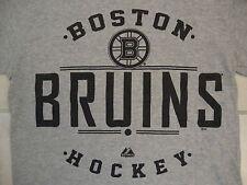 NHL Boston Bruins National Hockey League Fan Majestic Gray T Shirt S