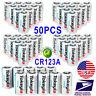 50PC Tokeyla 3.0V Lithium Photo CR123A Battery CR 123 123A For Camera,Flashlight