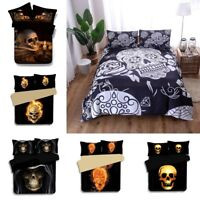 3D Skull Gothic Style Dead Fire Quilt Cover Skeleton Duvet Covers Bedding Set