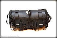 Sacoche de fourche / sac trousse à outils Cuir  Avec Frange lacet moto trike