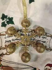 GOLD SNOWFLAKE Ornament GLITTER COATED Christmas TREE  DECOR  WREATH Swag FLORAL