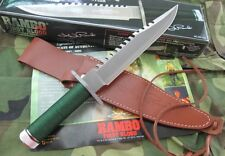 RAMBO FIRST BLOOD 25th Year Licensed SHARP SURVIVAL HUNTING BOWIE COMBAT KNIFE