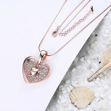 Heart Pendant Crystal Chain Bib Necklace Women Jewelry Valentine's Day Gifts Hot