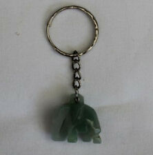 Handcrafted Jade Elephant  Keyring from Northern Thailand
