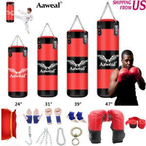 G4 Punching Bag Heavy Boxing Punch Training Gloves Speed Set Kicking MMA Workout