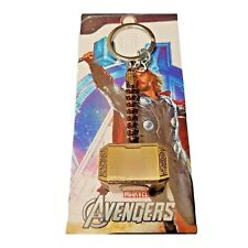 Thors Metal Hammer Keyring KeyChain Solid Well Made Gold / Brass Colour
