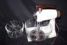 1970s Deluxe Sunbeam Mixmaster Mixer model 1-7A bowls beaters dough hook