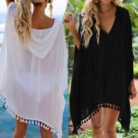 Hooded Coat Women Beachwear Swimwear Bikini Cover Up Kaftan Summer Beach Dress