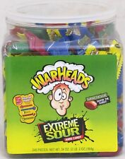 Warheads Extreme Sour Hard Candy 240 Count Tub War Head Bulk Candies OVER 2 LBS