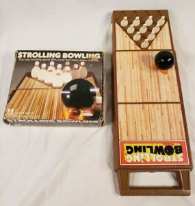 Strolling Bowling Wind-Up Tomy Vintage 1980s Portable Game Ball Does NOT Work!