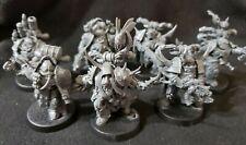Warhammer 40k Studio Chaos Space Marines: Death Guard Plague Marines x7