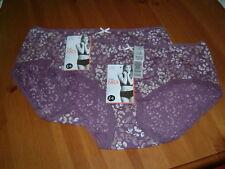Ladies MARKS & SPENCER Midi Knickers Size 8 (2 Pairs) Purple Mix BNWT