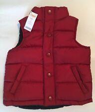 NWT Gymboree Aviator School XS 3-4 Dark Red Puffer Vest