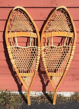 Pair Of Vintage Wooden Snowshoes Great Condition Home Ski Lodge Log Cabin Decor