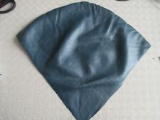 3  PIECES OF SOFT USED BLUE LEATHER PATCHES/CRAFT/CRAFTS/SEWING/NEEDLEWORK.
