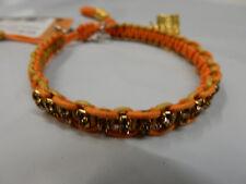 Rb19 Mia Orange Rose Gonzales Woven Bracelet