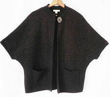 Coldwater Creek Sweater Duster/Cardigan Brown Pockets Bat-Wing Sleeve Size L