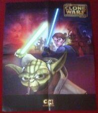 Star Wars The Clone Wars Double Sided Poster - Cartoon Network - Fan Club Folded