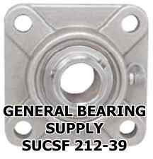 "2-7/16"" Prime Quality SUCSF212-39 Stainless Steel 4-Bolt Flange Bearing"