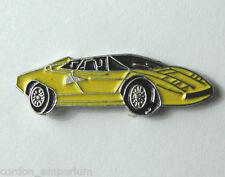 LAMBORGHINI YELLOW VEHICLE CAR AUTOMOBILE CAR LAPEL PIN BADGE 3/4 INCH