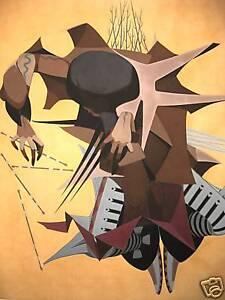 BUFFOLO DANCER  Giclee by Oscar Howe MINT