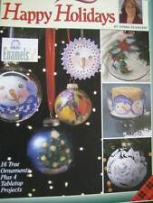 Donna Dewberry Happy Holidays Painting Book- 16 Ornaments & 4 Tabletop Proje