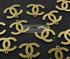 FREE SHIP--12pcs Antique Brass Metal Alphabet Letter Charm Pendants Logo PND-594