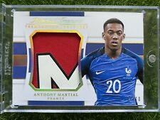 2018 National Treasures Soccer ANTHONY MARTIAL Match Worn Patch Jersey /10 GOLD