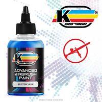Colore acrilico vernice ad acqua per aerografo PROFESSIONALE BLU ELETTRICO 50ML