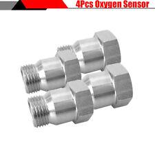 4Pcs Auto Car M18x1.5 Oxygen Sensor Pipe Adapter Extension Spacer Extender Metal