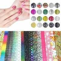 DIY Tips Nail Foil Art Stickers Transfer Decals Mixed Pattern Decoration
