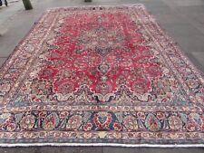 VECCHIO Fatto a Mano Tradizionale Tappeti Persiani Orientale Lana Tappeto Rosso di grandi dimensioni 400x285cm
