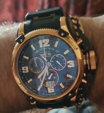Invicta Russian Diver Quartz Watch - Rose Gold, Black case with Black tone