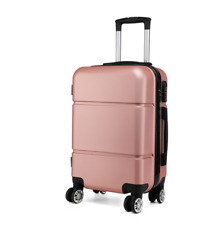 Kono Suitcase 20'' Travel Carry On Hand Cabin Luggage Hard Shell Travel Bag Nude