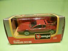 BBURAGO 4133 FERRARI 512 BB - RED 1:43 - GOOD CONDITION IN BOX