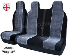 Ford Transit Mk 7 (06-13) LUXURY GREY/WHITE VAN SEAT COVERS - Single + Double
