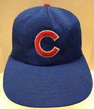 Chicago Cubs MLB Trucker Hat C Baseball Snap Back Mesh Men OSFA