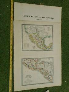 100% ORIGINAL MEXICO CENTRAL AMERICA MAP BYJAMES WYLD  C1849 VGC ORIGINAL COLOUR